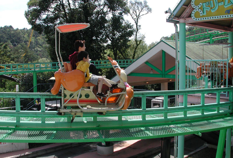 fun monorail at japan monkey park is the passenger powered monorail