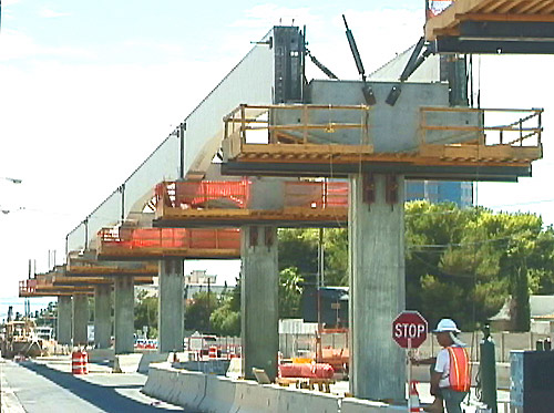 Las Vegas Construction August 5 2002 Beams Up On
