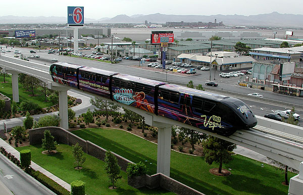 Las Vegas Monorail Opening Day Page One Of Six