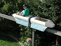 follow the train as it makes its way around the backyard in this five